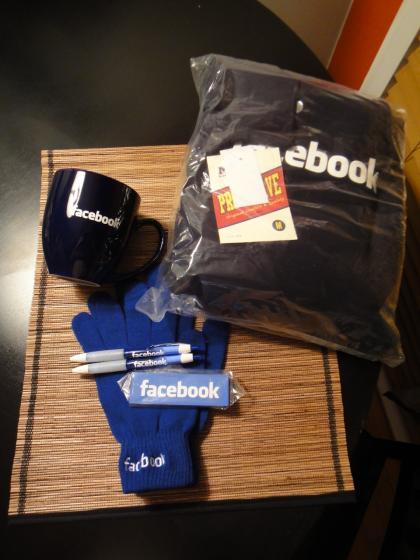 Facebook swag!
