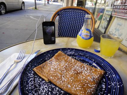 Crêpes while video calling with my awesome mother-in-law!