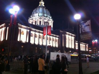 Facebook holiday party at San Francisco city hall!