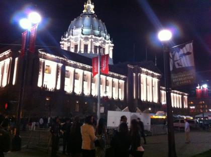 Facebook holiday party at San Francisco city hall!