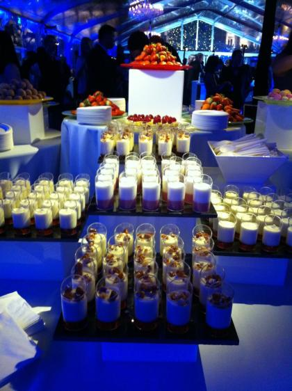 Facebook holiday party: piles of desserts!