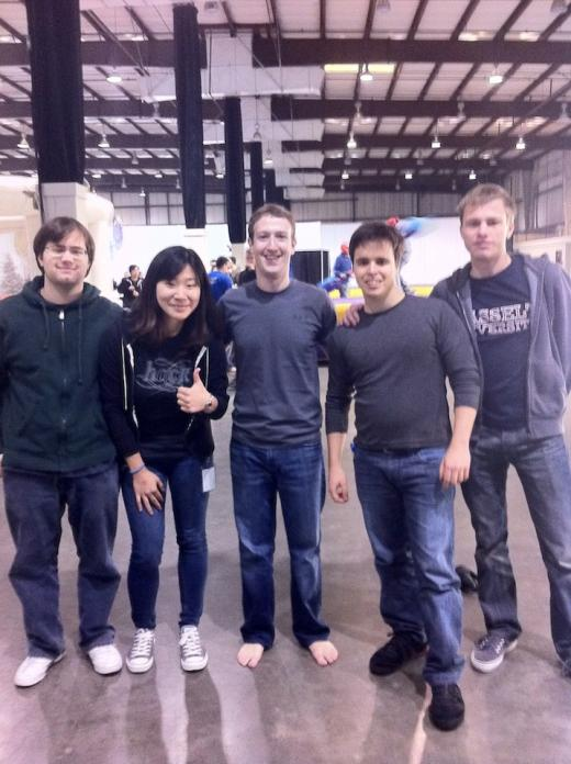 23-year old me with a shoeless Mark Zuckerberg