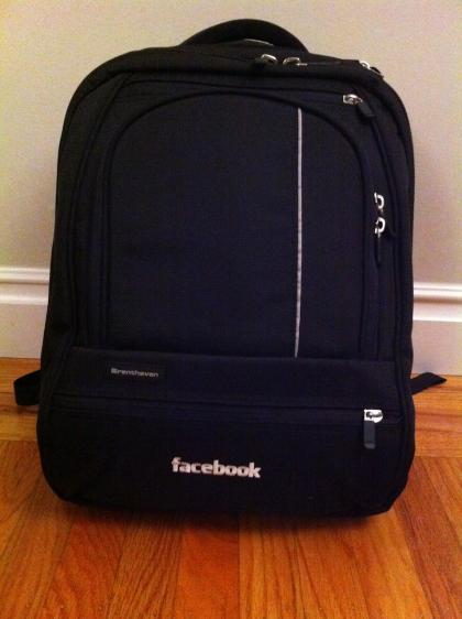 Facebook backpack :)