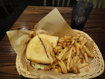 Armadillo Willy's: Turkey Bacon Stack + side of Fresh-cut Fries