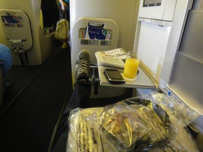 Can't touch the next seat with my feet!