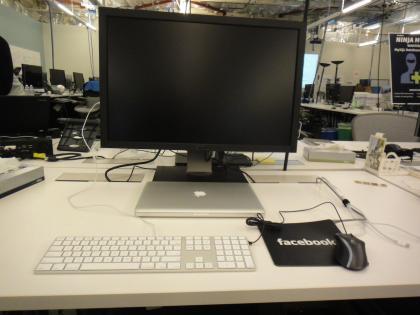 My desk, where a monstrous 30