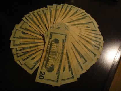 An array of money…