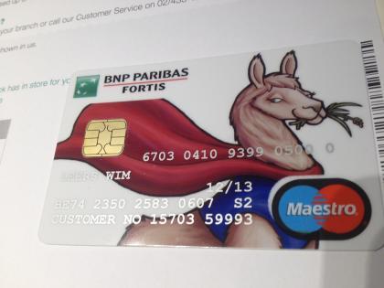 Llama bank card